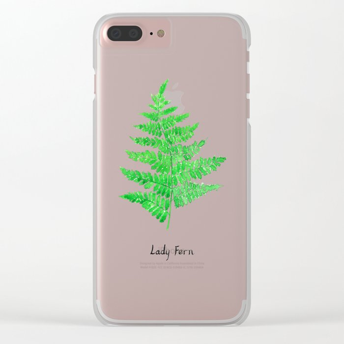 Lady fern Clear iPhone Case