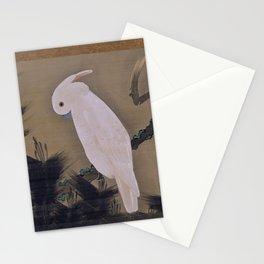 Itō Jakuchū - White Cockatoo on a Pine Branch (1780s) Stationery Cards