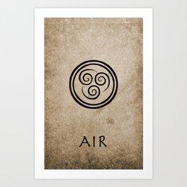 Avatar Last Airbender - Air Art Print