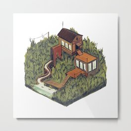 Squared Landscape III Metal Print