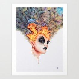 Burning Girl Art Print