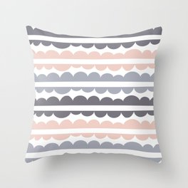 Mordidas Pale Dogwood Throw Pillow