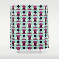 solid Shower Curtains featuring Nu Solid by Leandro Pita