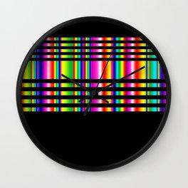 Neon Tartan Wall Clock