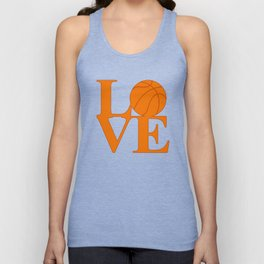 Love Basketball Unisex Tank Top