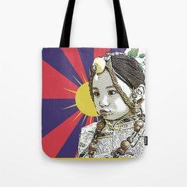 A little Tibetan girl Tote Bag