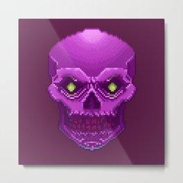 Pxl_Skull Metal Print