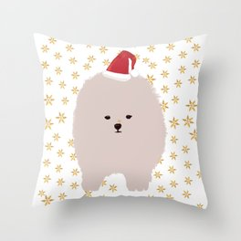 Happy Holidays Fluffy Throw Pillow