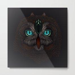 Owl Totem Metal Print
