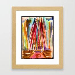 Grace cathedral lights Framed Art Print