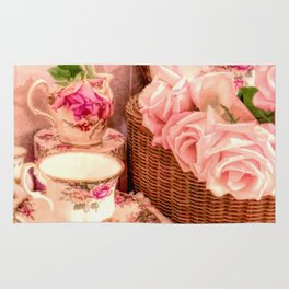Teacups and Roses 4 Rug