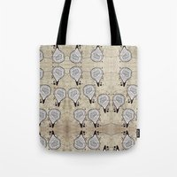 blueprint Tote Bags featuring Blueprint Pods by Finn Wild