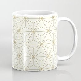Geometric Stars pattern gold Coffee Mug