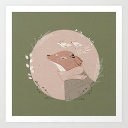 Fox fren Art Print