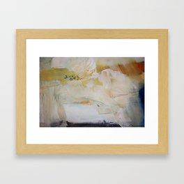 White abstract art  Framed Art Print