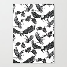 Eagles Pattern Canvas Print