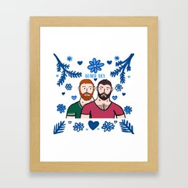 Beard Boy: Couple of Men - Karl & Daan Framed Art Print