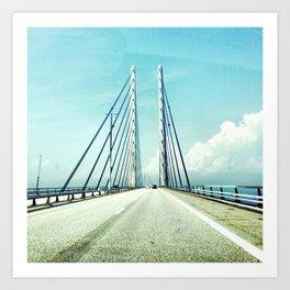 Bridge between countries Art Print