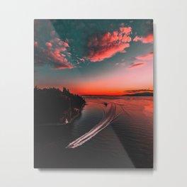 Canadian sunset #buyart #society6 Metal Print