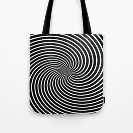 BLACK LICORICE SWIRL Abstract Art Tote Bag