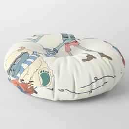 Knitting Train Floor Pillow