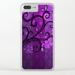 LEAVE - Spring Plum Clear iPhone Case