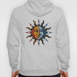 Celestial Mosaic Sun and Moon Hoody