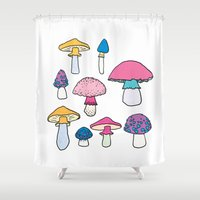 mushroom Shower Curtains featuring Mushroom by Elyse Beisser
