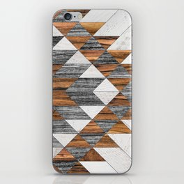 Urban Tribal Pattern 12 - Aztec - Wood iPhone Skin