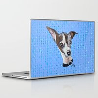 greyhound Laptop & iPad Skins featuring Mia the Italian Greyhound by gretzky