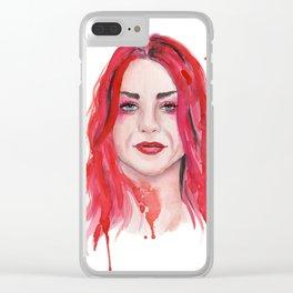 Frances Bean Cobain Clear iPhone Case