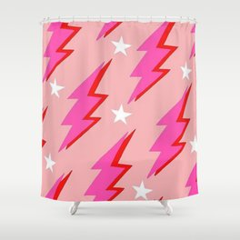 Barbie Lightning Shower Curtain