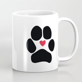 Dog Paw Coffee Mug