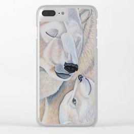 Polar Bear Love Clear iPhone Case