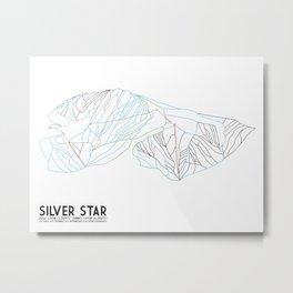 Silver Star, BC, Canada - Minimalist Trail Art Metal Print