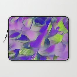 Heavenly Rose Petals Abstract - Purple Laptop Sleeve