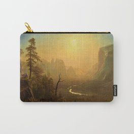 Classical Masterpiece Yosemite Valley - Glacier Point Trail by Albert Bierstadt Carry-All Pouch