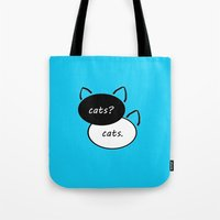 fault in our stars Tote Bags featuring The Fault In Our Stars  by Urban Exclaim Co.