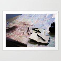 Trip planning Art Print