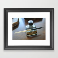 Write me a letter Framed Art Print