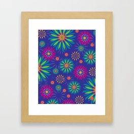 Psychoflower Violet Framed Art Print