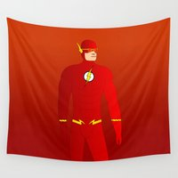 flash Wall Tapestries featuring Flash by pablosiano