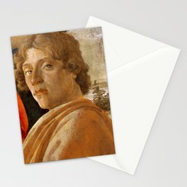 Sandro Botticelli Probable self-portrait of Botticelli, in his Adoration of the Magi (1475) Stationery Cards