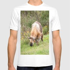 The Endangered Takin White Mens Fitted Tee MEDIUM