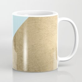Elegant geometrical purple teal faux gold color block Coffee Mug