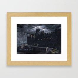 Innsmouth Harbour Framed Art Print