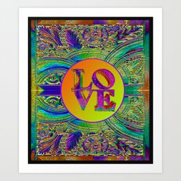 LOVE IN THE TIME OF ART DECO Art Print