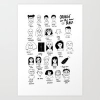 oitnb Art Prints featuring oitnb by Caleb Boyles