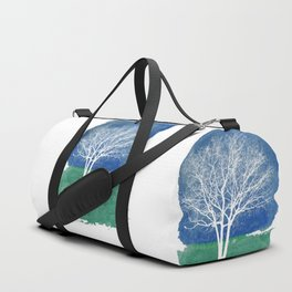 White Tree Watercolor Painting Duffle Bag