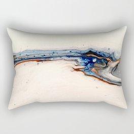 Simple Blue Fluid Flow Abstract Rectangular Pillow